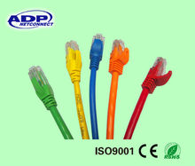 Fluke test assorted color utp cat5e patch cord cable/network cable
