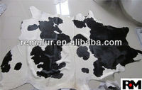 100% real Cow Hides Pelt with Hair on for rugs in natural color