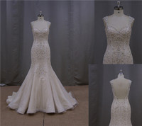 Finest ruffle band middle east beaded wedding dress