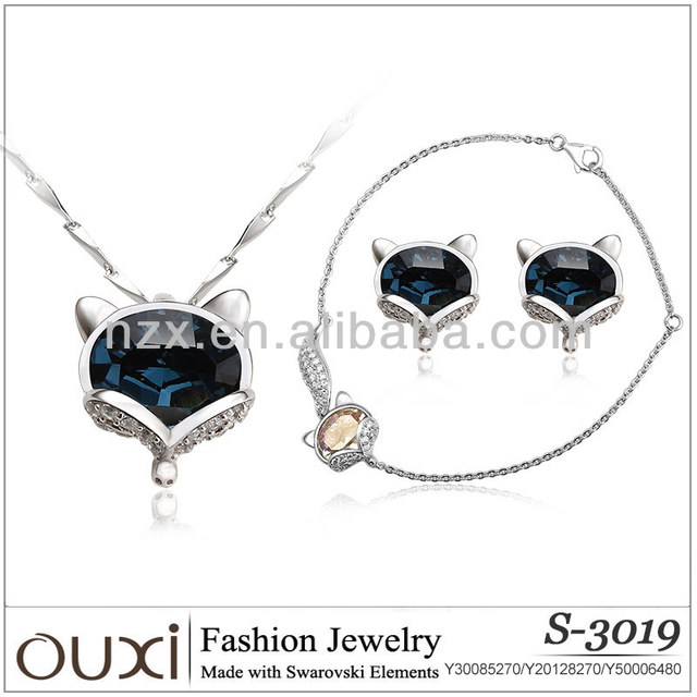 OUXI 2018 hot sale wedding cat shape sterling silver 925 jewelry S-3019