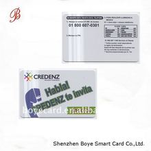 pre-pay scratch phone card, made of PVC