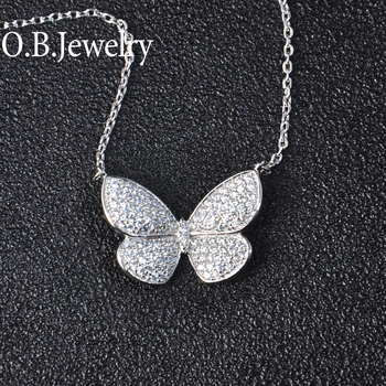 Most Popular Design Butterfly Shape Brass Metal Pendant Necklace