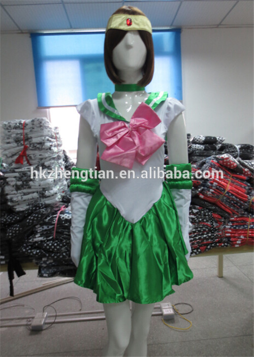 Walson Cheap sex xxx movies Plus size manufacturer New New Sailor Moon Jupiter Costume AUSSIE STOCK Cute Sexy Anime Green fan