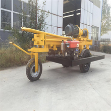 Portable Airdraulic DTH Drilling rig HQZ-200 auger drilling equipment