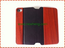 Wood Pattern Faux Leather Case with Magnetic Closure for iPhone 5 (Dark Brown)