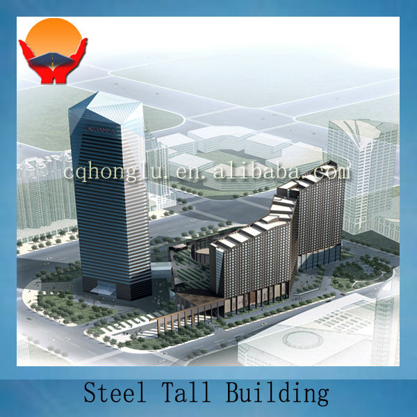 Steel tall hotel building