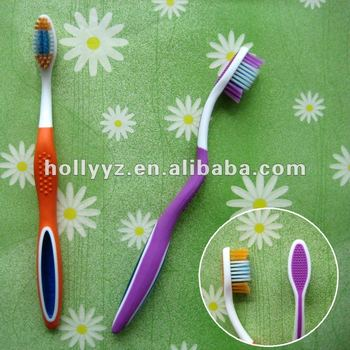Daily use nylon bristle adult toothbrush blister pack
