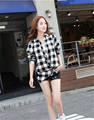 Latest girls fashionable long sleeves casual flannel shirt
