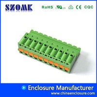 PCB Terminal Blocks Plug in Type Wire Connector Electronics Terminator for Din Rail, Project and Electronics