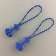 Blue waterproof cord logo color personalized bag backpack pvc plastic rubber custom zipper puller