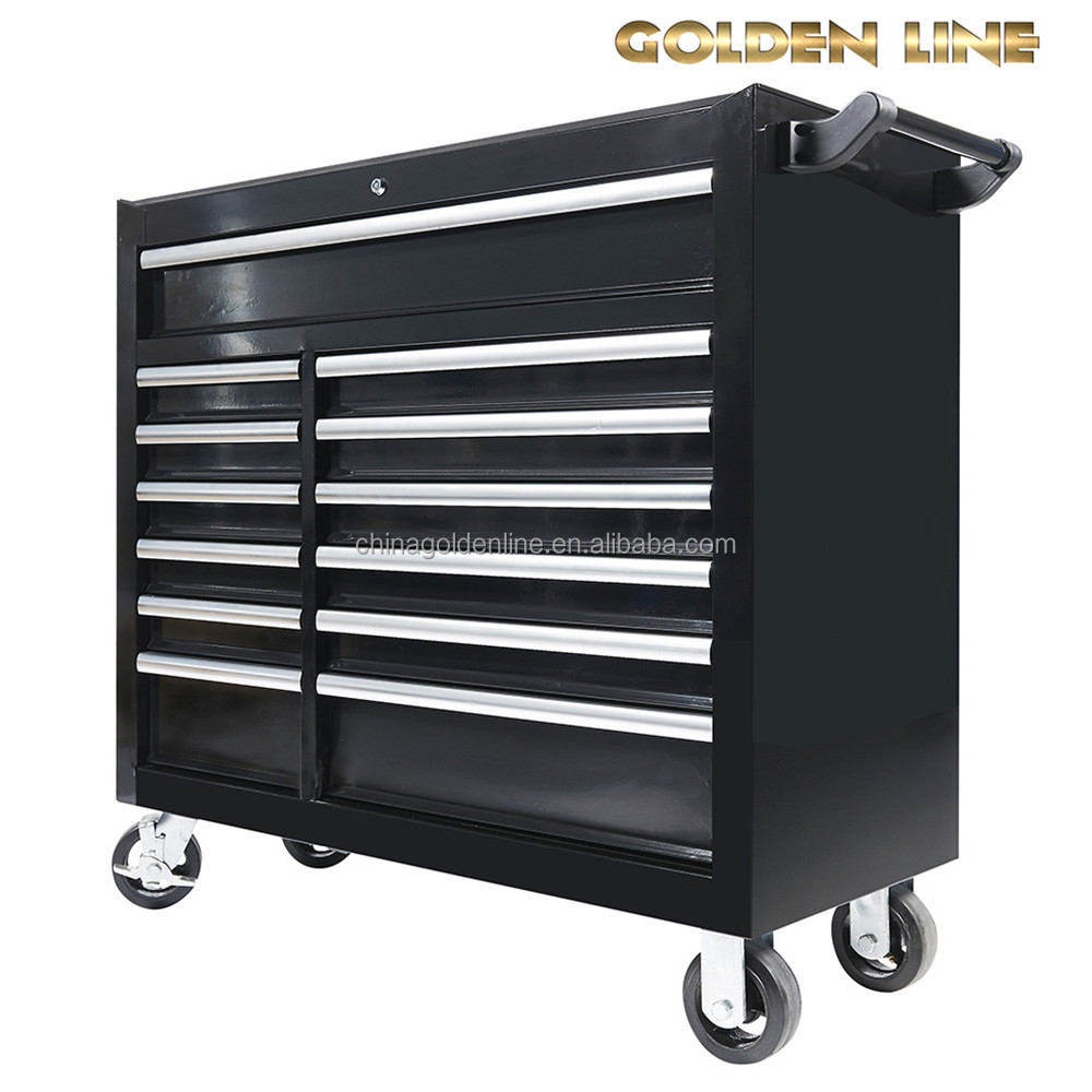 13 Drawers With Different Size Trolley Tool Box