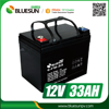 Bluesun 12v 30ah 33ah lead acid battery with ISO CE ROHS Certificate