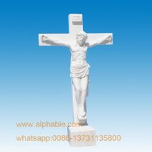 Carved Marble Jesus Christ Cross Crucifix Statue Cross Statue