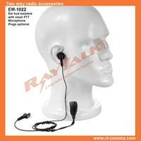Two Way Radio earphone buds earpiece surveillance kit earphone with small lapel PTT