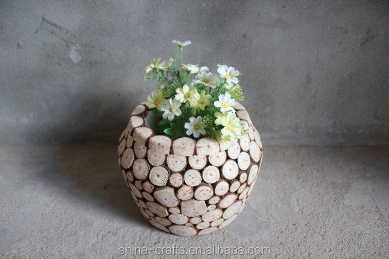 Chinese Manufacturer moisture content 8%-14% wood flower pot customized mind body and soul