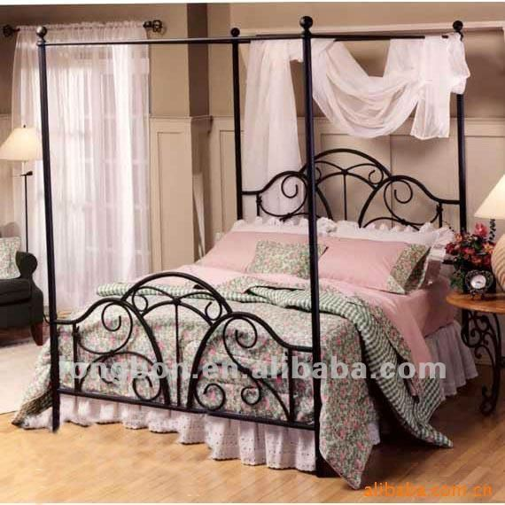 Top Ing Hand Forging Wrought Iron Canopy Bed View