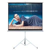 4:3 Portable PVC Material Fast Fold Projection screen