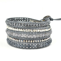 Fashion Korea Style Stone Jewelry 5 layer Luu Wrap Bracelet Gift for Her Best Friendship Bracelet
