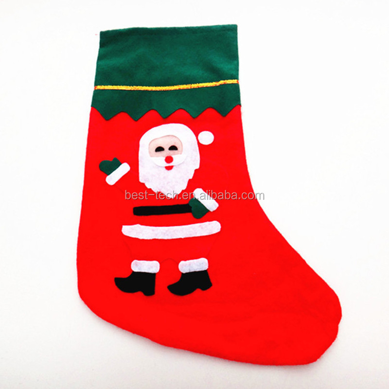Novelty Christmas Decoration the Santa Claus Socks Xmas Socks
