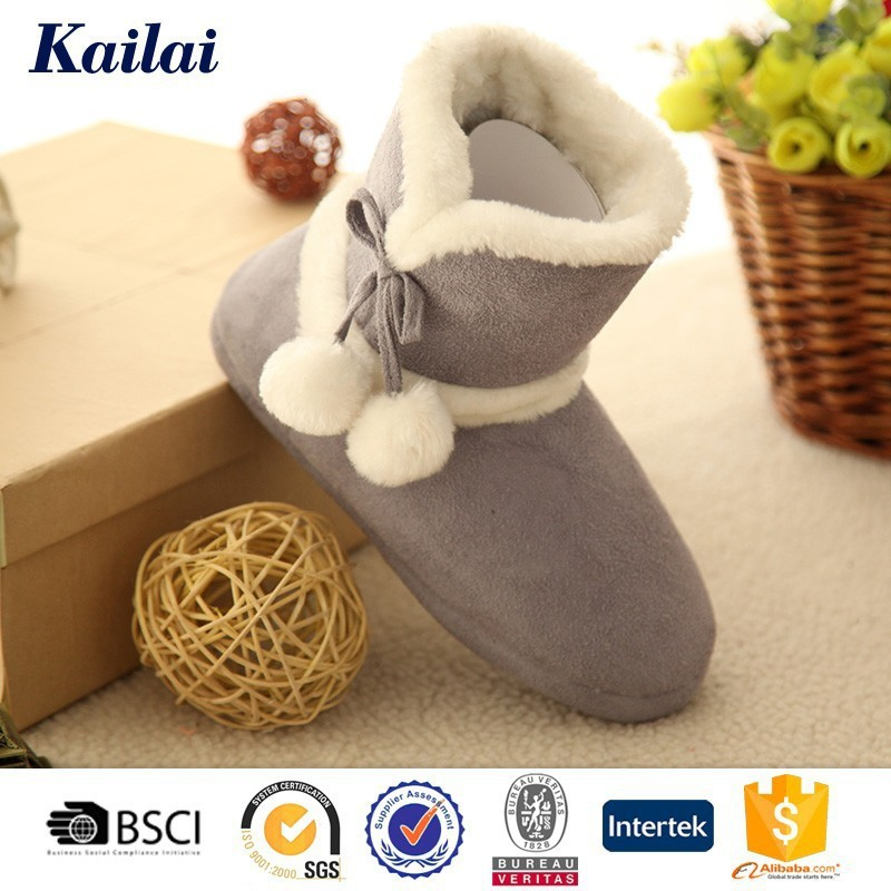 2015 high heels snow boots women with white fur