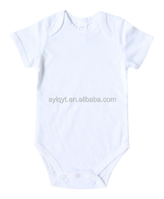 PF-MC-022 New born baby clothing 100% cotton plain white baby pajamas