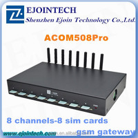 IMEI CHANGEABLE voip gsm gateway, low price gsm module ACOM508SG-8/32 8/16 port goip gateway