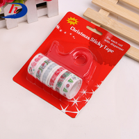 Custom Color Removable Diy Christmas Cute Packing Deco Stickers Washi Cartoon Tape For Kid