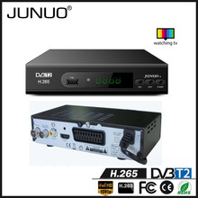JUNUO china tv tuner supplier made high quality fta full HD dvb t2 scart dvb-t