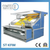 SUNTECH Tensionless Fabric Inspection Knit Cloth Rolling Machine for Textile Finishing Machine