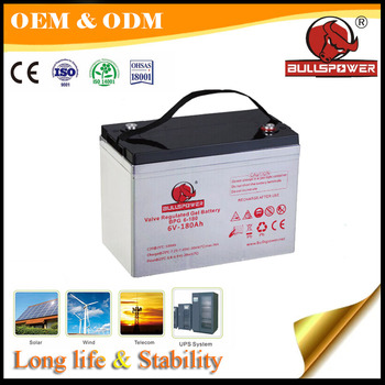 Excellent Recovery external storage UPS gel battery 6v 100ah for inverter