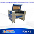co2 two heads laser engraver cutting machinesTS6090D