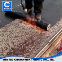 3mm 4mm polyester mat PE film bitumen waterproof roofing torch rolls