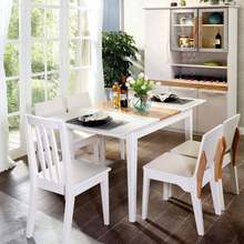 High Back Wooden Furniture Corner Dining Set Modern Dining Table Set