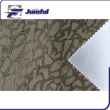 Elastic water proof fashion embossed textured lambskin laser cut pu faux leather fabric