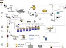 Rock Gold Ore Extraction Plant with Cyanide Leaching Process
