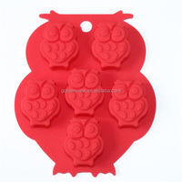 Silicone animal shape chocolate modl owl shape cake mold for baking