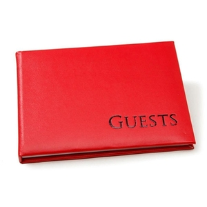 leather cover wedding guest book