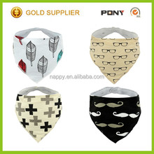 Soft and Breathable Cotton Organic Baby Clothing Bandana Drool Bibs Wholesale