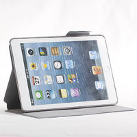 Concise microgroove business wallet tablet case for ipad mini