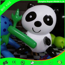 hot sale Advertising giant inflatable panda with bamboo