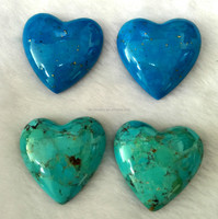 wholesale natural turquoise heart shape stones