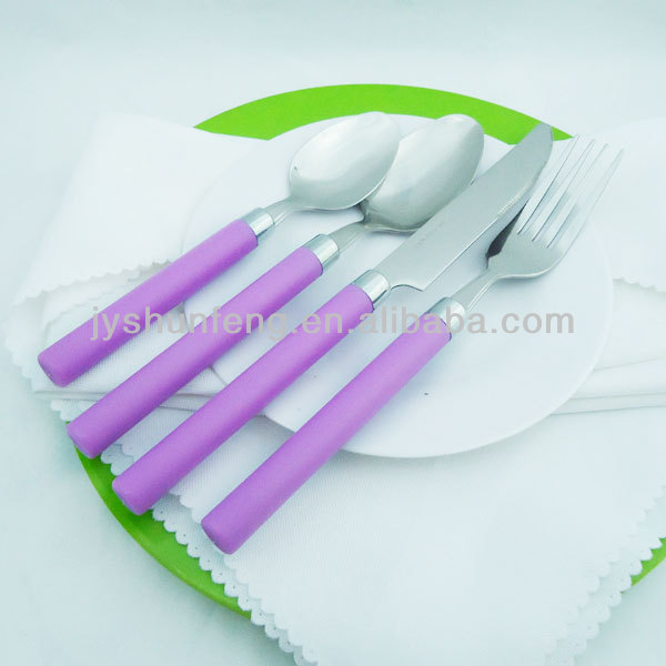 Plastic Handle Stainless Steel Cheap Flatware