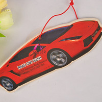 car shape strong perfume prmtional car air freshener paper