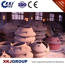 high manganese steel casting cone crusher bowl liner for cone crusher spares PY series cones