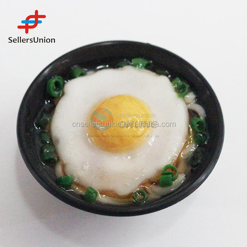 2017 No.1 Yiwu agent hot sale export commission agent 2016 new arrival simulation egg/noodle fridge magnet/refrigerator magnet
