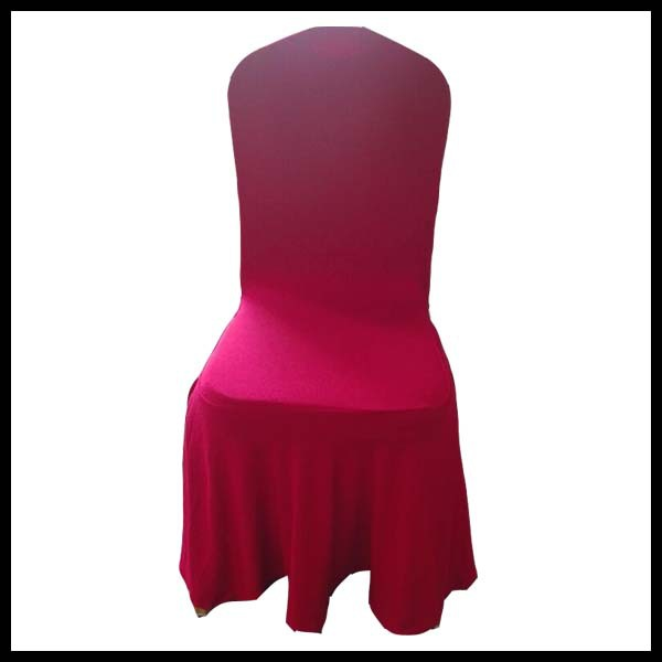 high quality spandex chair cover/lycra chair cover with bottom skirt