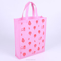 Promotional recycled full print pink color rpet shopping tote bag