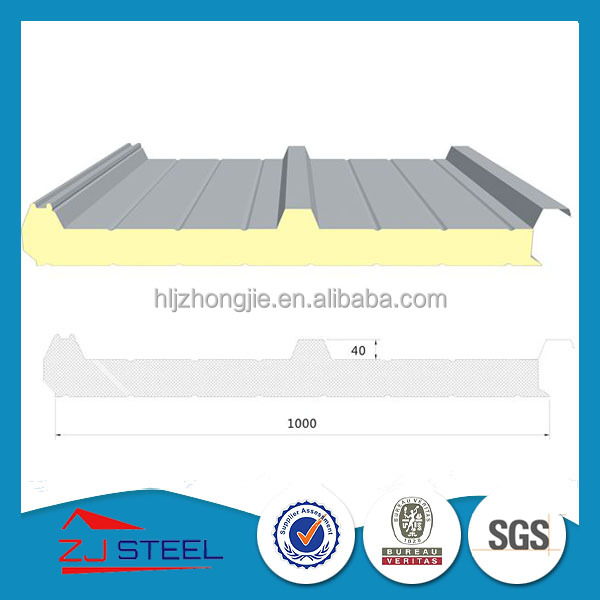corrugated insulated PU sandwich panel