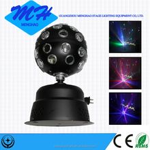 mini led laser rotation crystal magic ball light for disco party