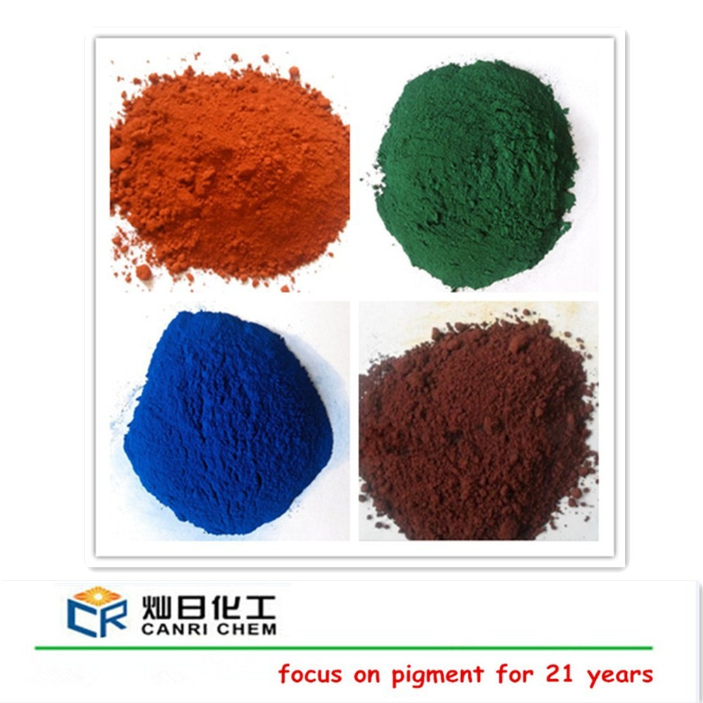 Color dye and pigments 95% fe2o3 red iron oxide for acis stain concrete/asphalt bitumen
